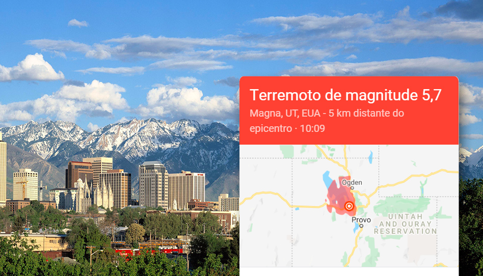 Terremoto de magnitude 5,7 atinge o vale de Salt Lake
