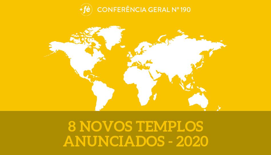 Novos templos anunciados na conferência geral de abril de 2020