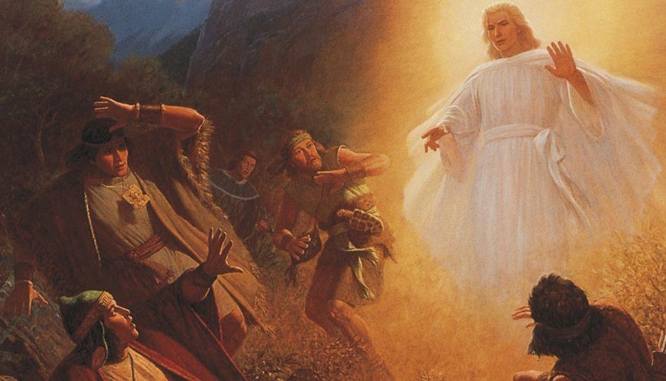 Por que o anjo falou a Alma com uma voz de trovão?