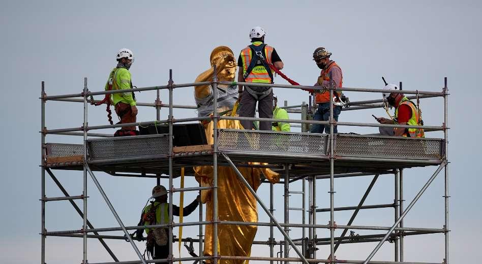 Estátua do Anjo Morôni é removida do templo de Salt Lake