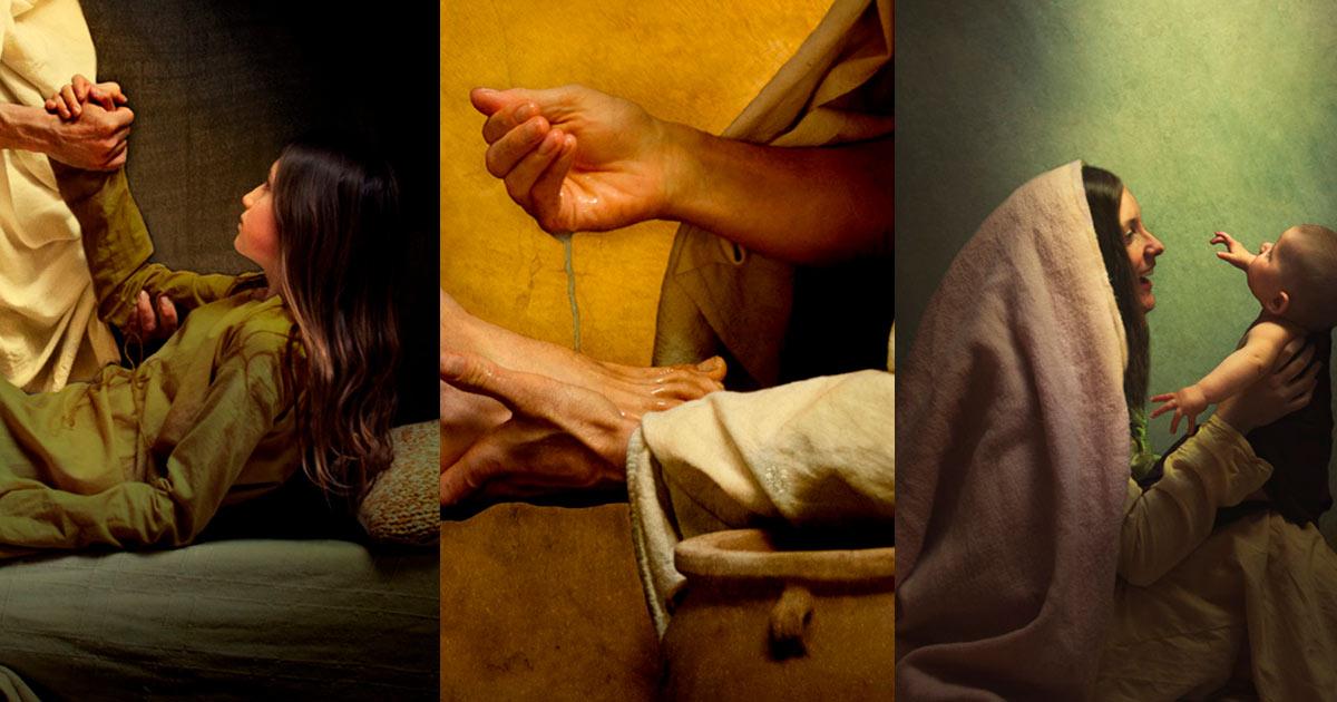 Santo dos Últimos Dias compartilha a Luz de Cristo por meio de fotos que representam o Salvador