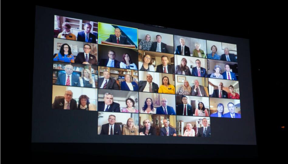 135 casais de líderes de missão recebem treinamento virtual em 17 países