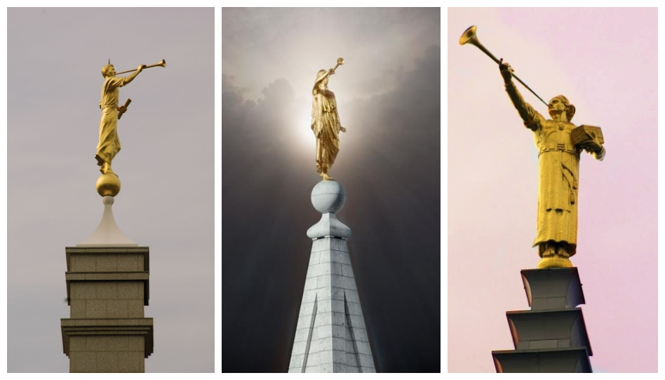 Veja as diferentes versões da estátua do anjo Morôni ao longo do tempo