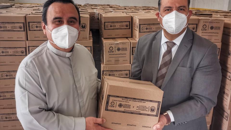 A Igreja de Jesus Cristo e a Cáritas doam alimentos a 142 mil mexicanos