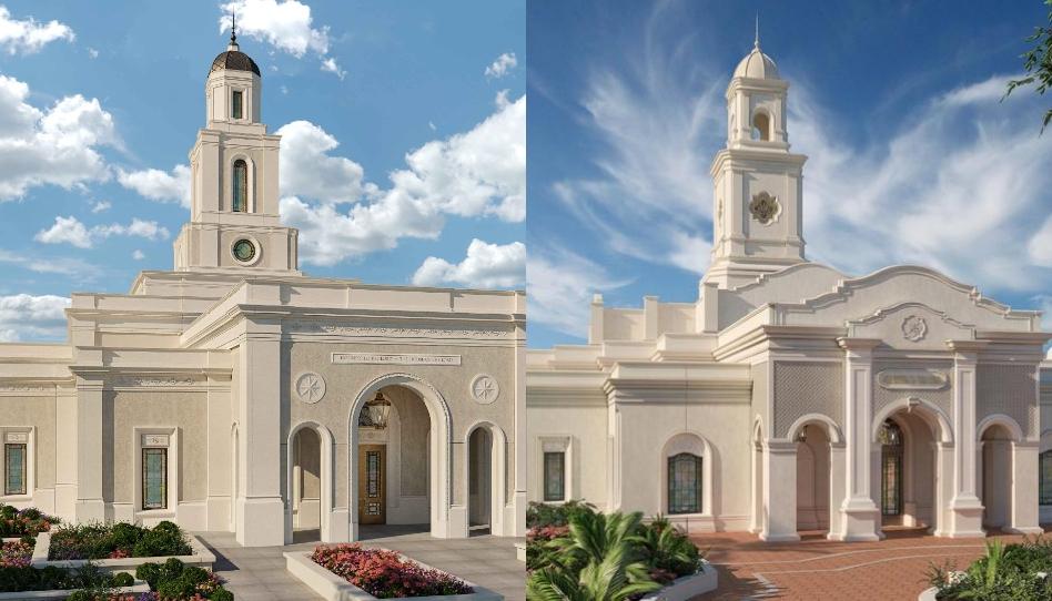 A Igreja de Jesus Cristo publica renderizações gráficas de 2 novos templos