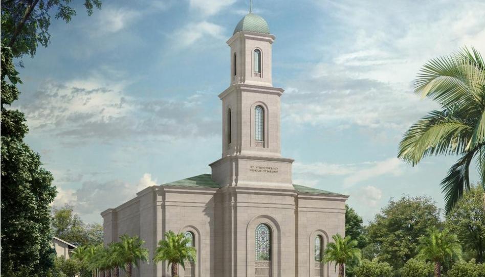 A Igreja de Jesus Cristo divulga a renderização do templo de Davao Filipinas