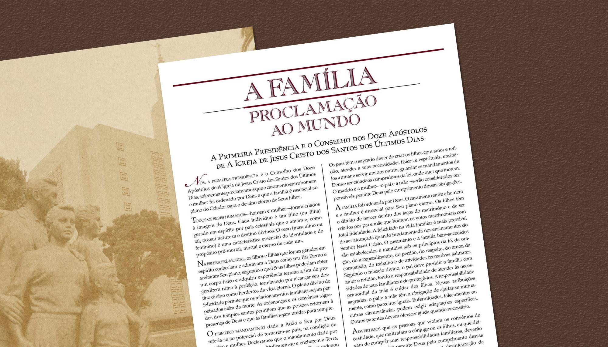 """25 anos da declaração """"A Família: Proclamação ao Mundo"""""""