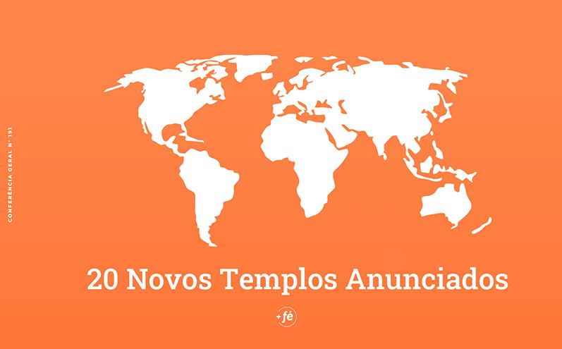 20 novos templos são anunciados na Conferência Geral de abril de 2021