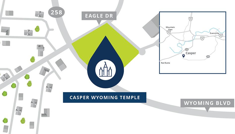 Localização do Templo de Casper Wyoming
